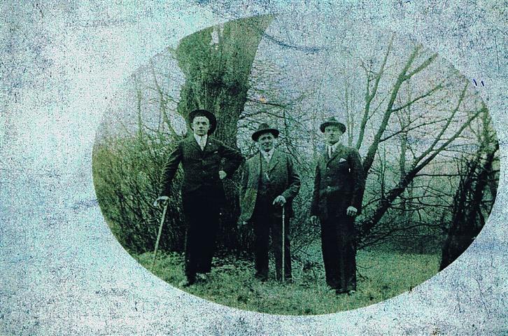 Ein Ausflug 1924, links: Karl Zilliken  (Foto von Anni Hinz)